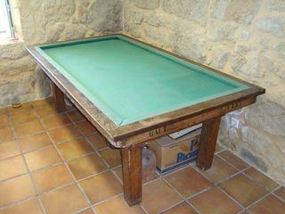 Mesa de billar francés antigua