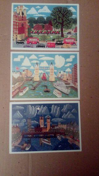3 Postales de Londres 2€ Nuevas