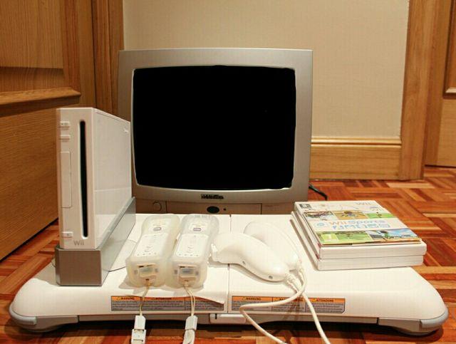 Wii + Wii Fit + televisión