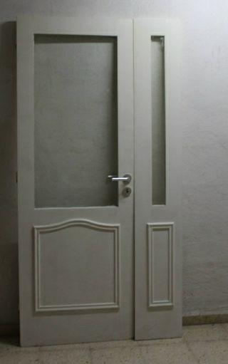 puertas de madera dobles