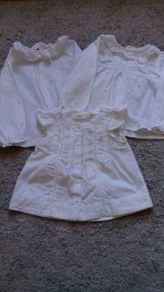 Lote camisas niña blancas basicas. Talla 18 mesrs