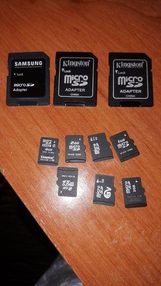 tarjetas y adaptadores sd