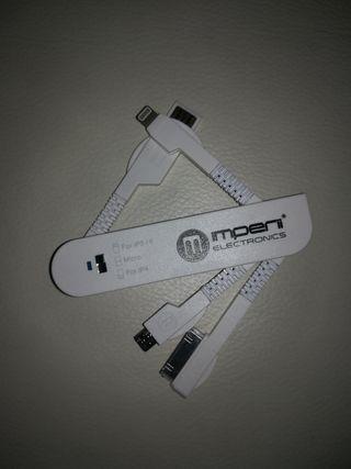 Multicargador USB tipo navaja suiza