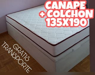 canape GRan capacidad+colchon 135x190 ---NUEVO---