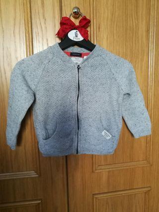 chaqueta basica zara gris