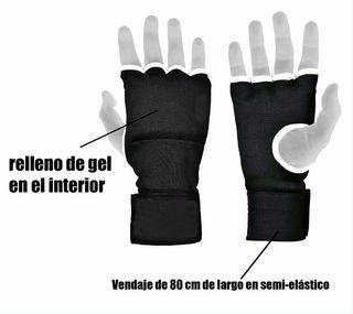 nuevos: guantes vendas gel interiores boxeo K1...