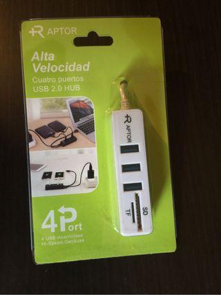 USB Hub y lector Memoria SD