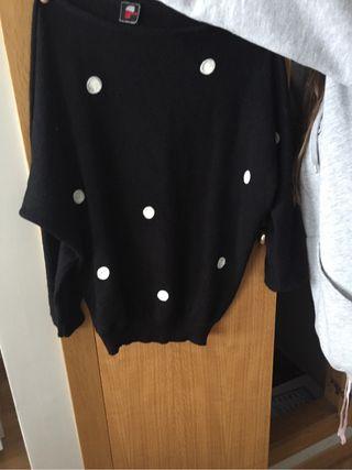 Jersey negro lunares