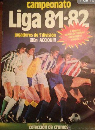 Álbum cromos Campeonato Liga 81-82