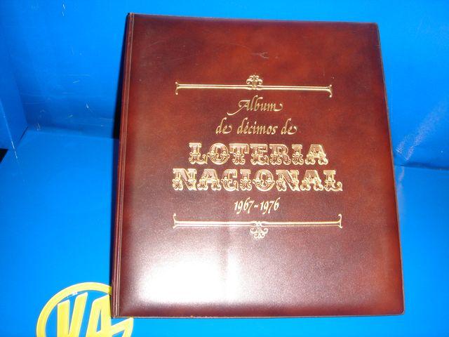 Album decimos LOTERIA NACIONAL del año 1967 al 82