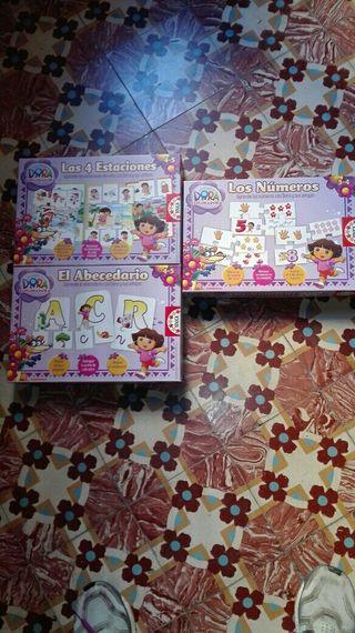 pack tres puzzle Dora la exploradora infantil
