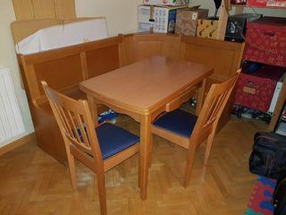 Banco esquinero y mesa cocina de segunda mano por 275 en villanueva del pardillo en wallapop - Banco esquinero cocina ...