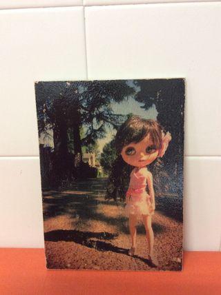 Cuadro con Fotografía original de Blythe doll