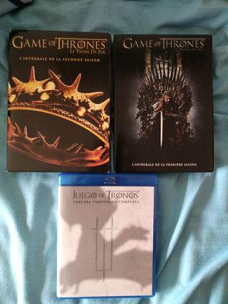 dvd y Blu-ray juego de tronos