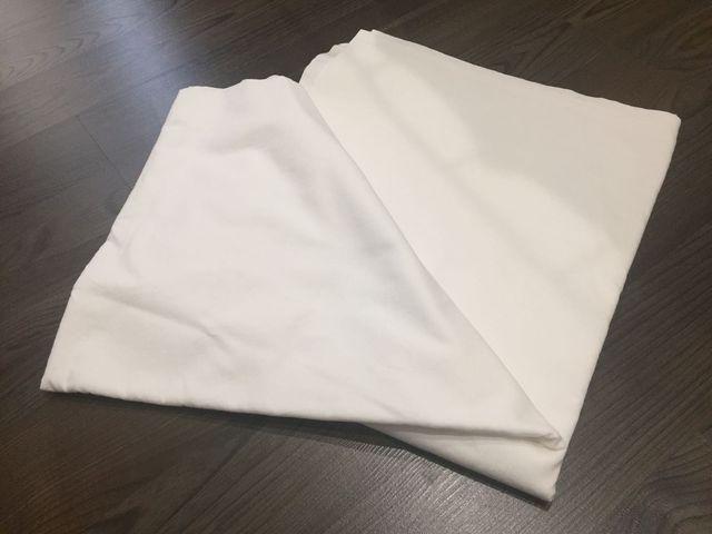 Sábana encimera blanca