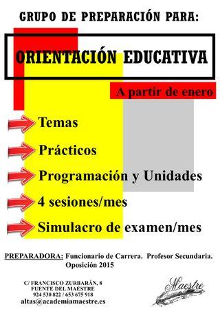Preparación Oposiciones Orientación Educativa