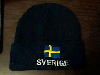 gorro nieve invierno snow sky suecia bandera