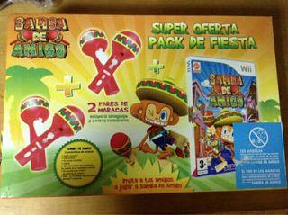 juego wii samba de amigo+ accesorios (nuevo)