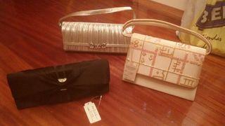 Bolsos elegantes de ceremonia con etiquetas