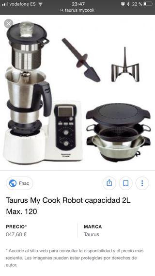 Robot De Cocina Taurus Mycook Precio   Mycook De Taurus De Segunda Mano En Wallapop