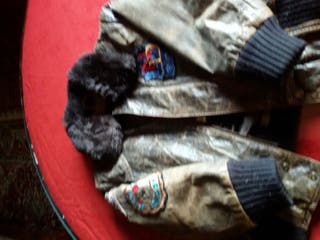 chaquetón piel Pepe Jeans marrón talla 6