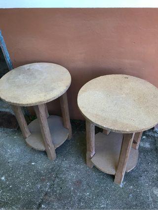 Conjunto 2 mesas camilla pequeñas