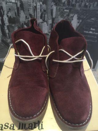 Zapatos de gamuza roja taller 44