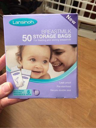 BreastMilk storage bags.