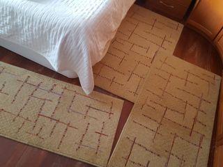3 alfombras lana dormitorio