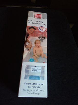 Barrera de seguridad baño bebes.