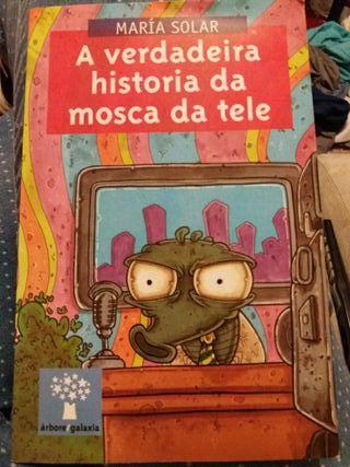 """Libro """"A verdadera historia da mosca da tele"""""""