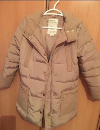 Abrigo largo de plumas Zara