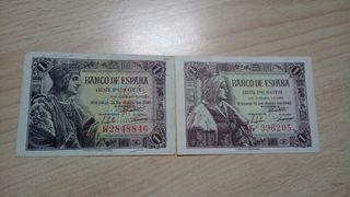 1 peseta 1943 y 1945