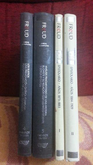 4 LIBROS FREUD, OBRAS COMPLETAS