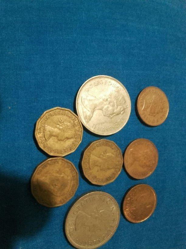 Lote de 8 monedas antiguas Inglesas