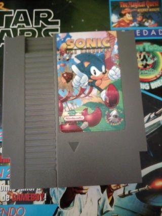 Juego Sonic para Nes versión europea y americana.