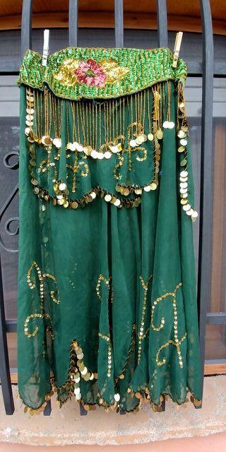oriental carnaval falda y sombreo