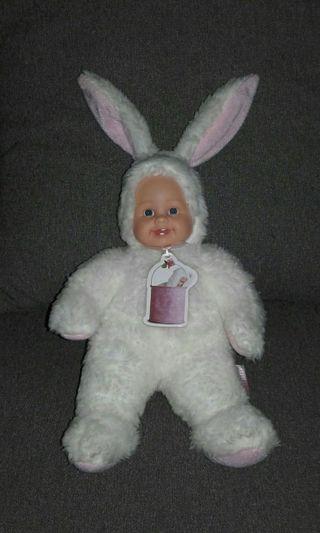 Mu/ñeca de Conejo Rosa Beb/é Anne Geddes Baby Pink Bunny Rabbit Doll