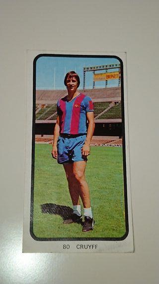 Cromo Cruyff liga 73-74 Ruiz Romero