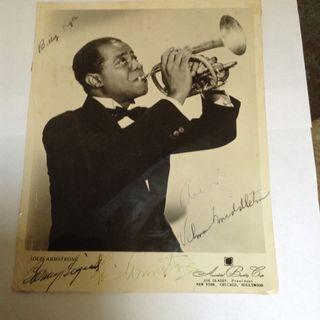 Louis Armstrong photo firmado