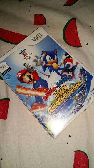 Videojuego Mario y Sonic