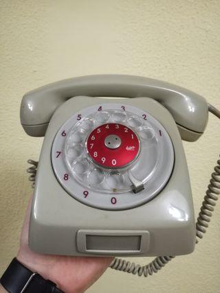 teléfono fijo antiguo de disco Ericsson LM