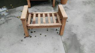 reposapiés madera algarrobo americano