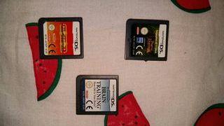 lote tres juegos de Nintendo DS