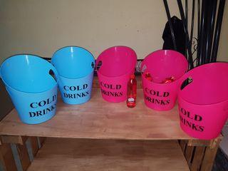 5 cubos para bebida