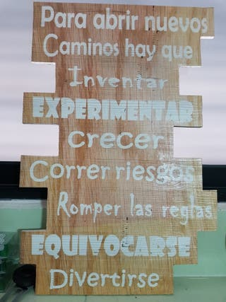 Cartel decoración