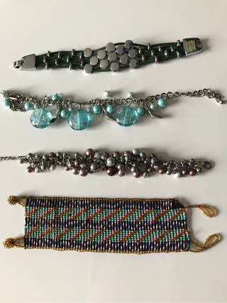 Pulseras, brazaletes, reloj y anillos, usado segunda mano  España