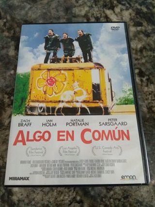 """Cine. DVD película """"Algo en común""""."""
