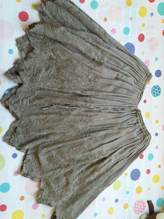 falda de mujer de zara talla M