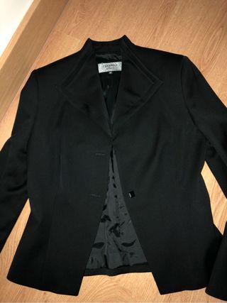 Chaqueta de vestir mujer negra